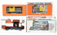 4 Lionel motorized snow units 8264, 28413, 8459, 8368 Alaska, Milwaukee Road, CP, Rio Grande