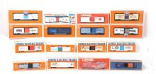 16 Lionel Toy Fair boxcars 29217, 19917, 19977, 19989, 29910, etc