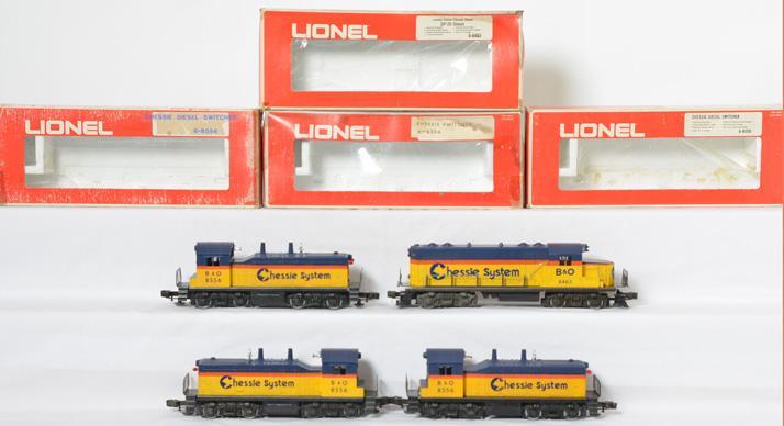 4 Lionel Chessie System Diesels, 8463, 8556