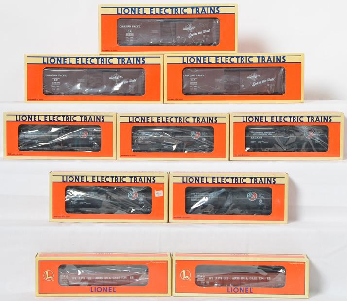 10 Lionel Canadian Collectors Freight Cars, 930016, BAOX 914