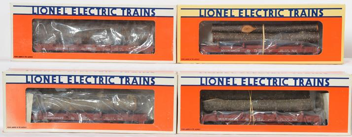 4 Lionel LOTS 59629 Flat with Logs