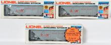 3 Lionel LOTS 6111 L&N Covered Hopper