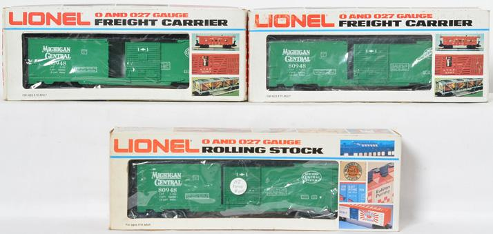 3 Lionel LOTS Michigan Central 80948 Boxcar