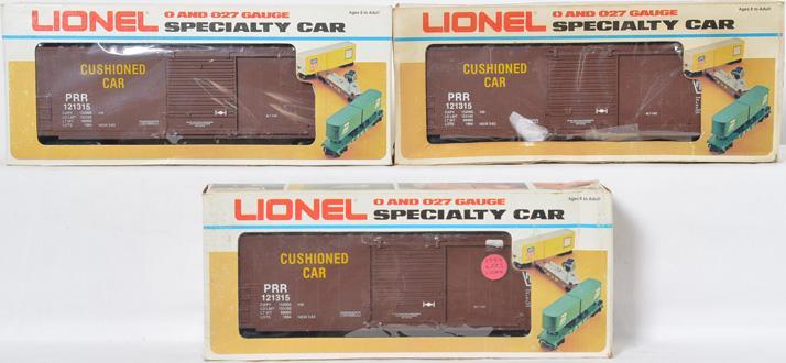3 Lionel LOTS Pennsylvania Boxcar, 121315