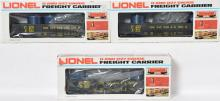 3 Lionel C&O LOTS Gondola with canister and coal load, 6211