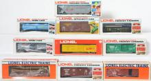 9 Lionel LOTS Freight Cars, 9414, 3764, 80948, 6111, 121315, SCHX303, 6211, 38356, 17882, 59629