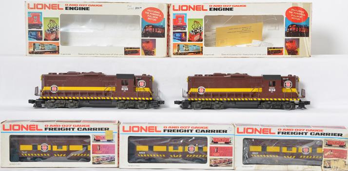 Lionel Duluth Missabe GP-35 8158-8159 and 3 Bay Window 6422