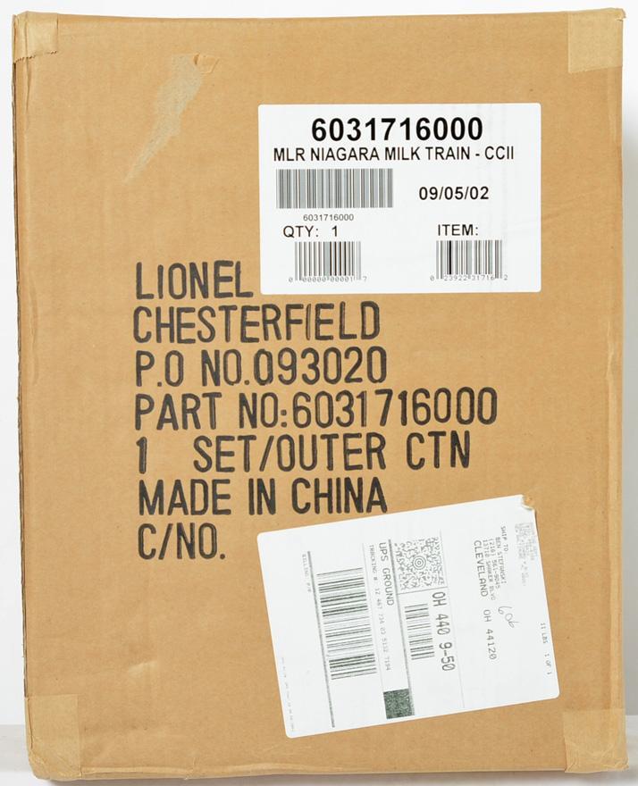 Lionel 31716 Niagara Milk Train