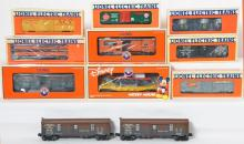 11 Lionel Frieght Cars, 19505, 26834, 6208, 26165, 16234, 16808