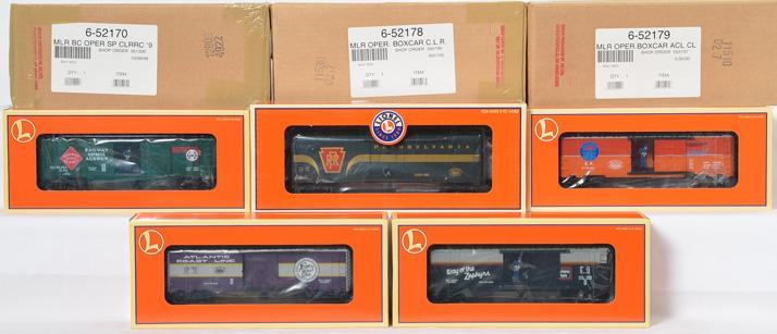 8 Lionel Chicagoland Lionel Railroad Club Freight Cars, 52251, 52148, 52179, 52178