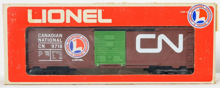 Lionel Collectors of Canada CN Boxcar with Green Door, 9718