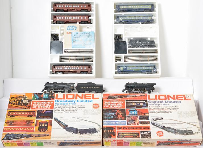2 Lionel Steamer Passenger Sets, 1487 Broadway Limited, 1587 Capitol Limited