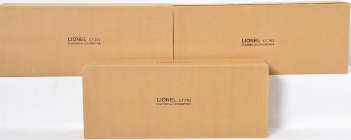 3 Lionel LT-702 Flatbed with Locomotives