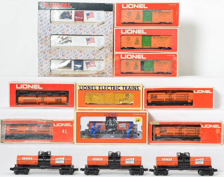 15 Lionel Freight Cars, 6315-1972, 9774-1975, 19636, 52067, 19599
