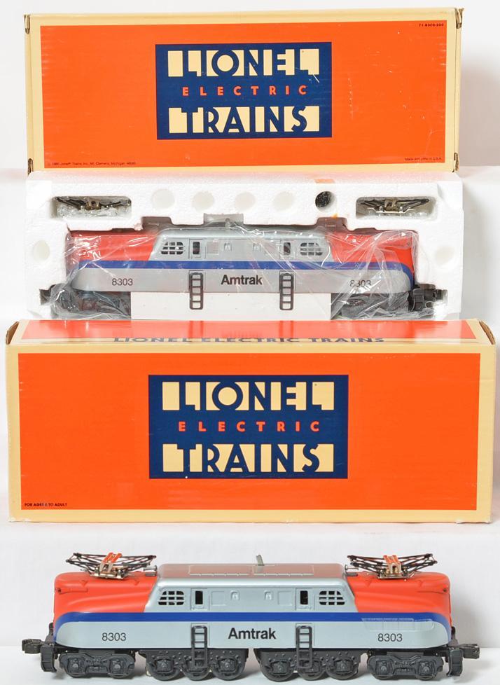 2 Lionel 18303 Amtrak GG1 Electric Loco