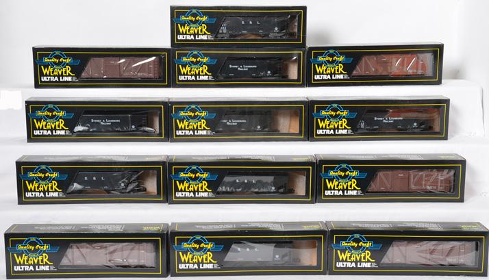 13 Weaver Canadian Collectors Freight Cars, SL-9822, THB-9721X