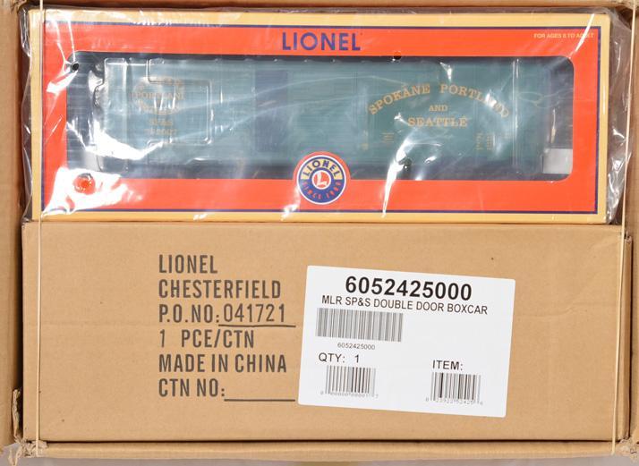 5 Lionel LOTS 52425 Spokane Portland & Seattle Double Door Boxcar