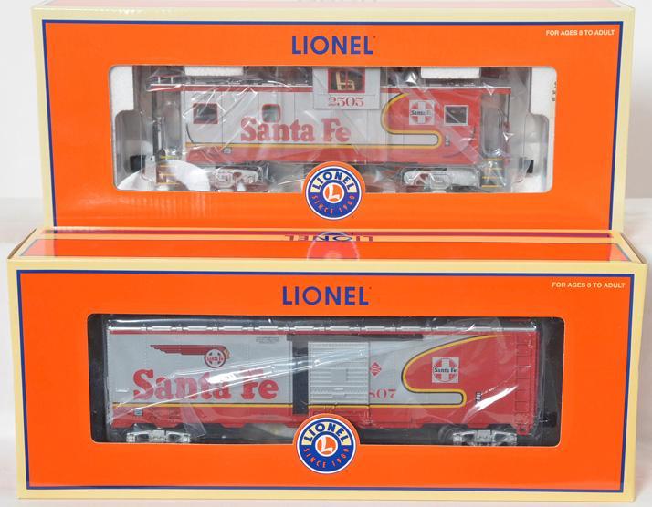 Lionel LOTS Santa Fe Warbonnet Freight Cars, 52477, 52382
