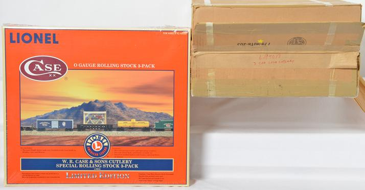 2 Lionel 99018 W.R. Case & Sons Cutlery Special Rolling Stock 3 Pack