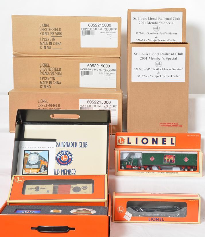 Lionel Club Freight Cars, 52215, 52117, 52224A,B