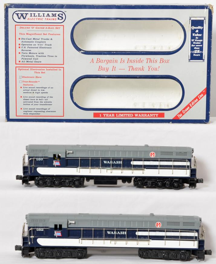 Williams Wabash FM Trainmaster AA set with horn, 362024