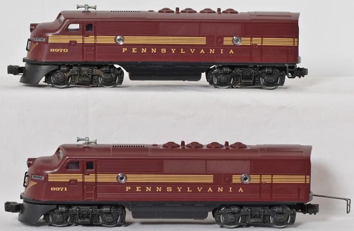 Lionel 8970 Pennsylvania F3AA Dual Motor Unit.