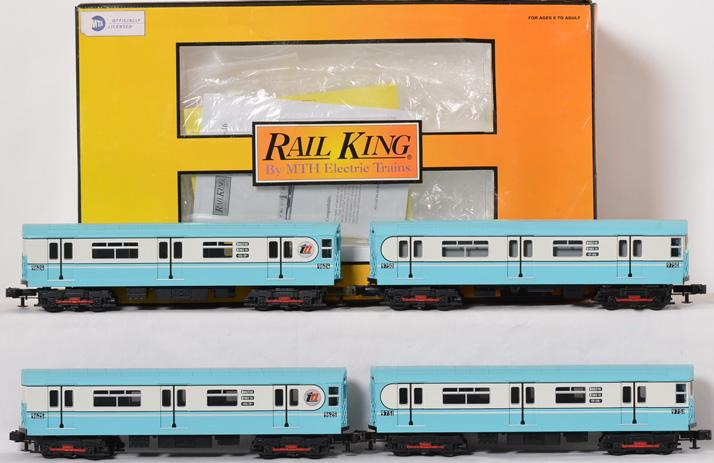 Railking Metro R-36 4 Car Subway Set with Protosound, 2274