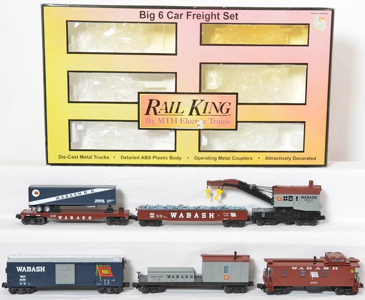 RailKing Wabash 6 Car Freight Set, 7001