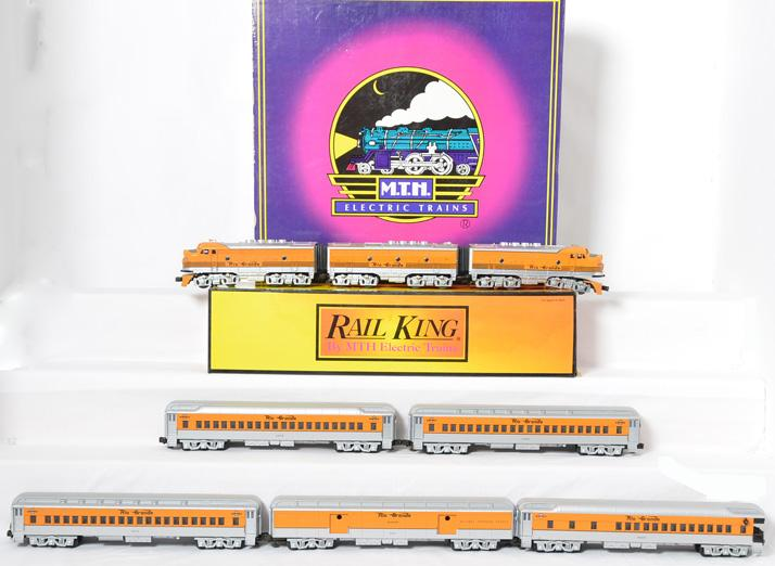 Railking Denver Rio Grande F3 ABA with Proto and 5 car Passenger Set, 30-2184, MT-4003