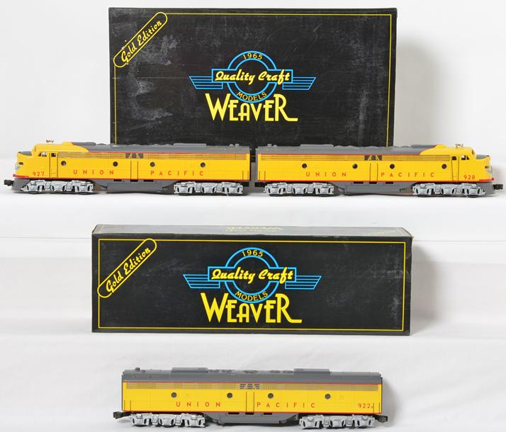Weaver Union Pacific E-8 A-B-A diesel locomotive set
