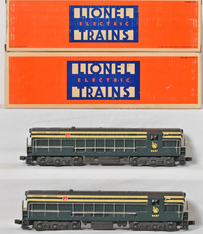 2 Lionel 8687 Jersey Central Fairbanks Morse Diesel