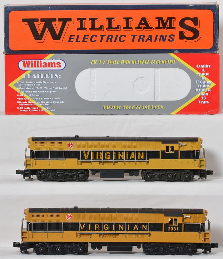 2 Williams FM Trainmaster Virginian, black and yellow, Cab #2331
