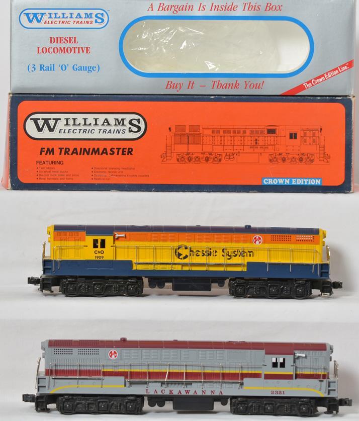 Williams FM 14 Lacawanna Dummy and 4111 Chessie Trainmaster