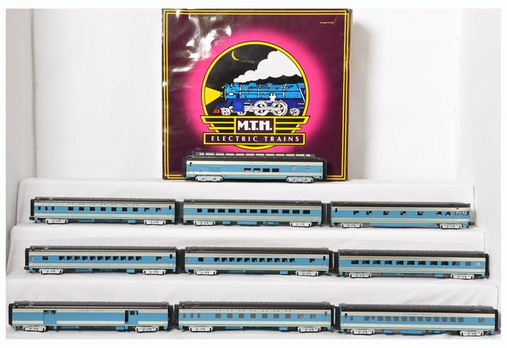 MTH Electro Motive 10 car streamlined passenger set , 20-6534, 6634, 6734