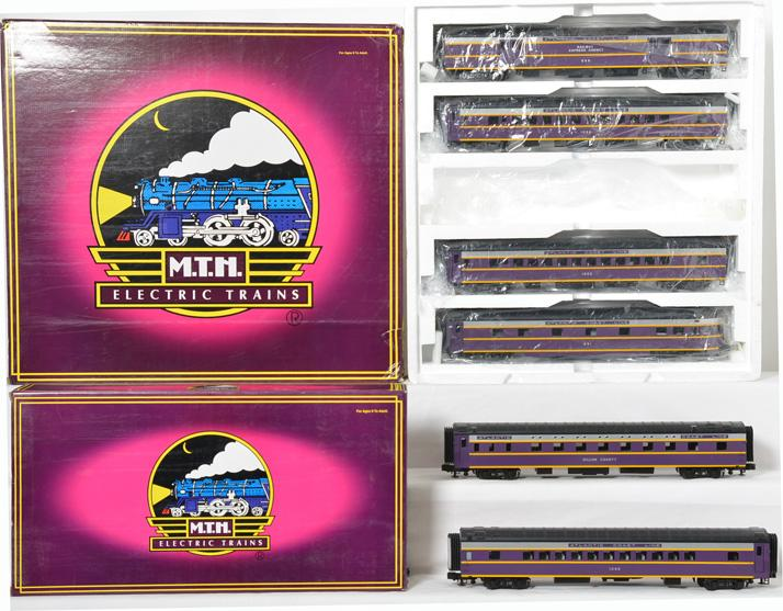 MTH Atlantic Coast Line 7 car Passenger Set, 20-6571,6671