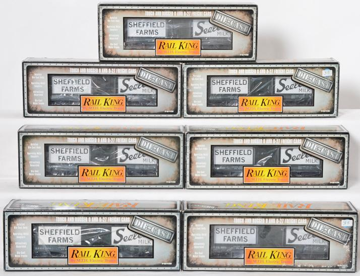 7 Railking die cast Sheffield Farms die cast refrigerator cars