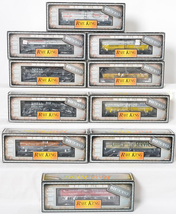 10 Railking die cast tank cars Esso, Domino, Shell, Cities Service, etc