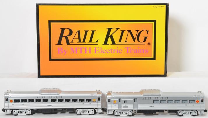MTH Railking 30-2232-1 Long Island Railroad RDC Budd car set with Proto 2