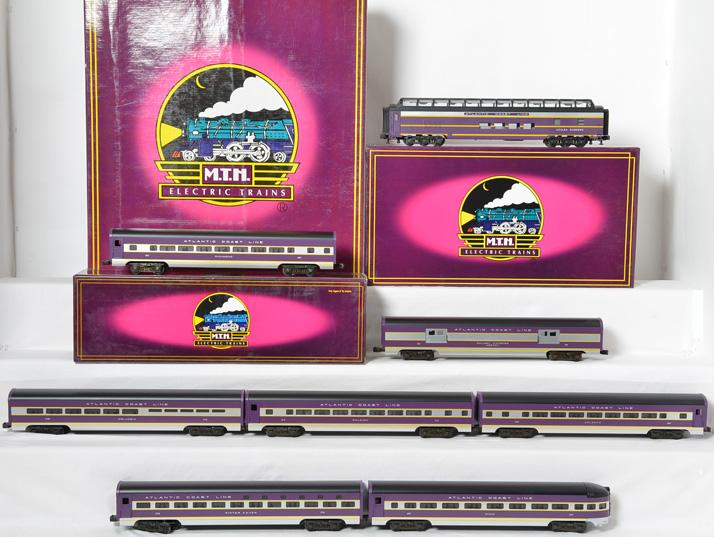 MTH 6500 6600 and 6671 Atlantic Coast Line Aluminum Passenger Cars 8 total