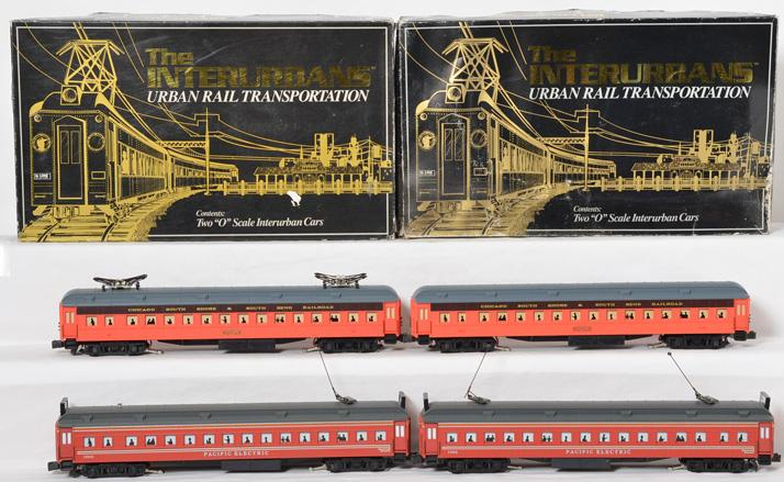 K Line Pacific Electric and South Shore interurban sets