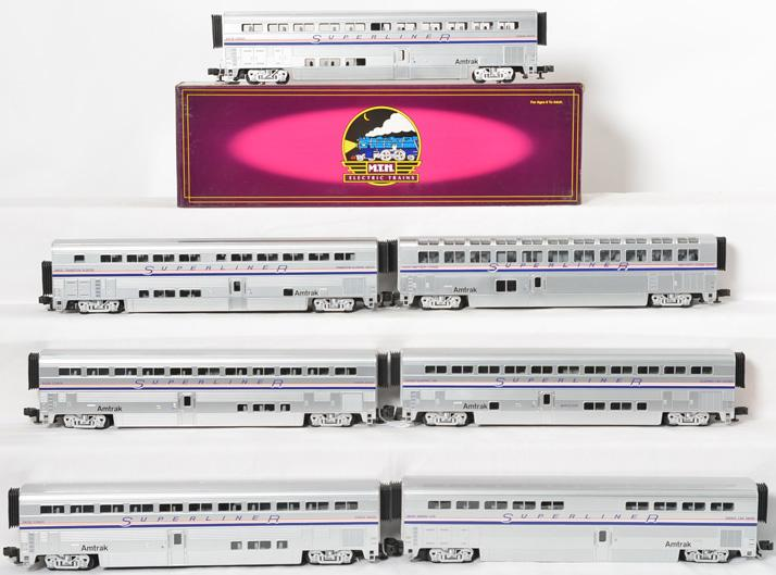 MTH Amtrak Superliner Phase IV 7 car set
