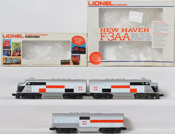 Lionel 8851,8864 New Haven F3 ABA Diesel Set