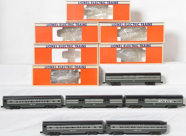 6 Lionel NYC 9594 - 9598, 7207 Passenger Cars