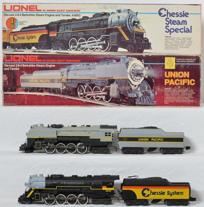 Lionel 8002, 8003 Union Pacific & Chessie Steam Berkshires