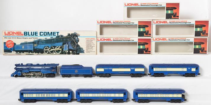 Lionel Blue Comet Passsenger Set, 8801 9536-9540
