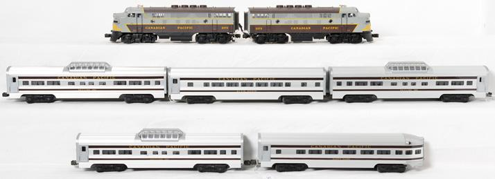 MTH Canadian Pacific F3 AA and 5 Aluminum Passenger Car Set