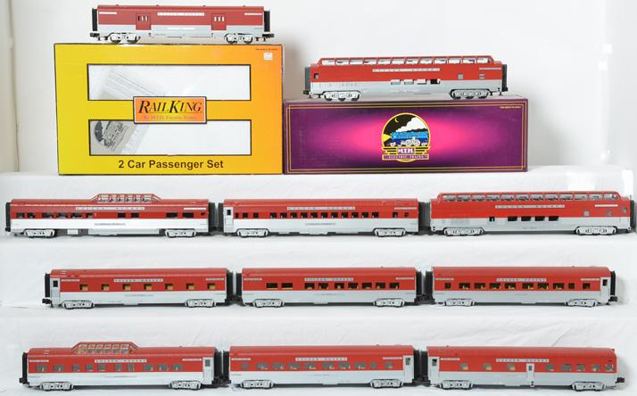 10 RailKing Rock Island Golden Rocket Passenger Cars