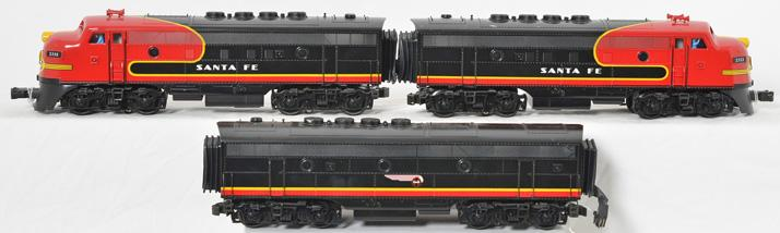 K Line Santa Fe Black Bonnet F3 A-B-A with TMCC