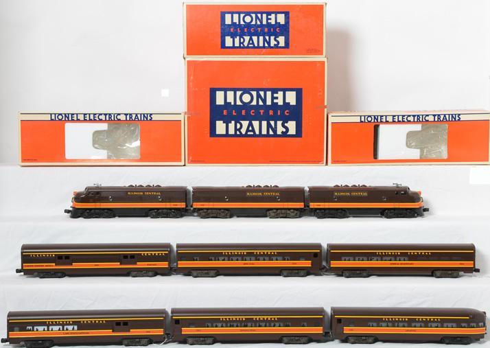 Lionel Illinois Central F3 A-B-A passenger set