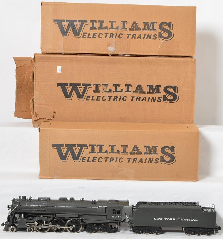 Williams modern O gauge brass New York Central J-1e Hudson steam locomotive